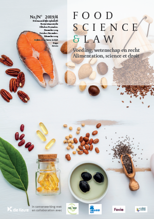 Cover Food Science & Law nummer 4 2019